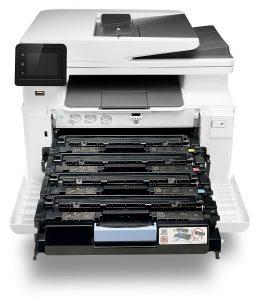 tiroirs et racks de l'imprimante laser HP M281FDW